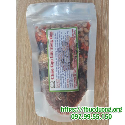 Cháo gạo lứt đậu đỏ tổng hợp