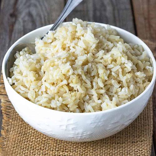 Cơm gạo lứt trắng
